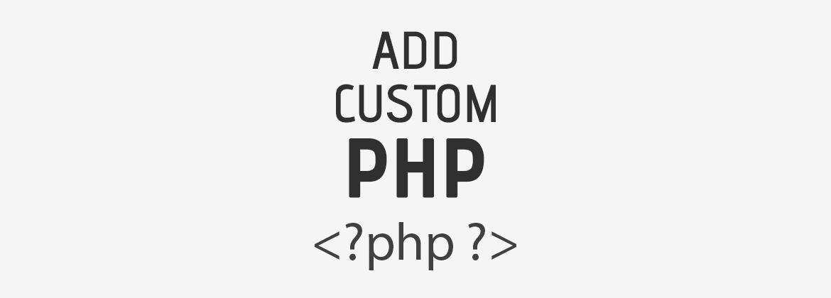 Download Add Custom PHP